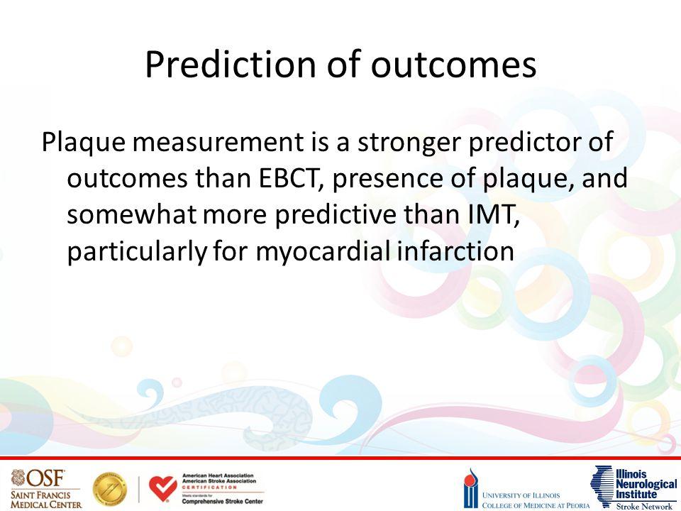 Prediction of outcomes