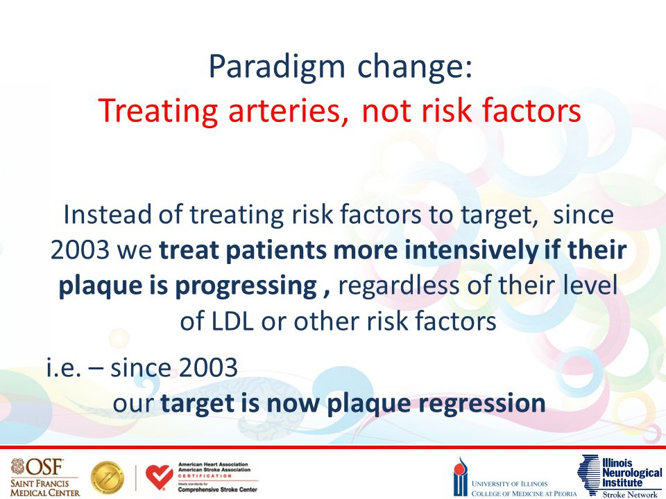 Paradigm change: Treating arteries, not risk factors