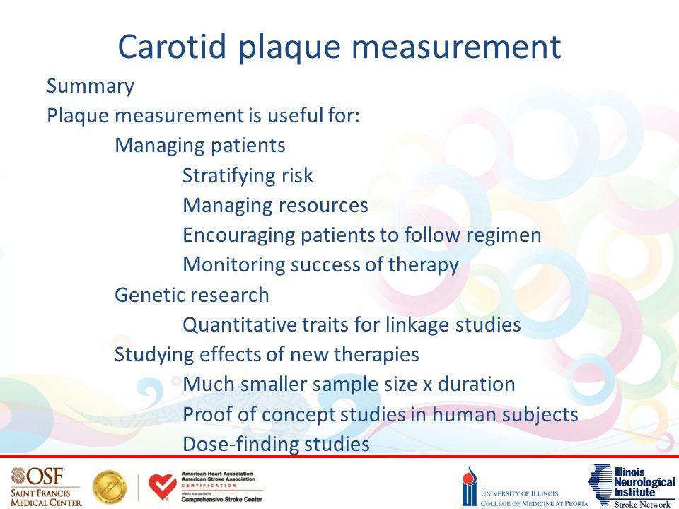 Carotid plaque measurement