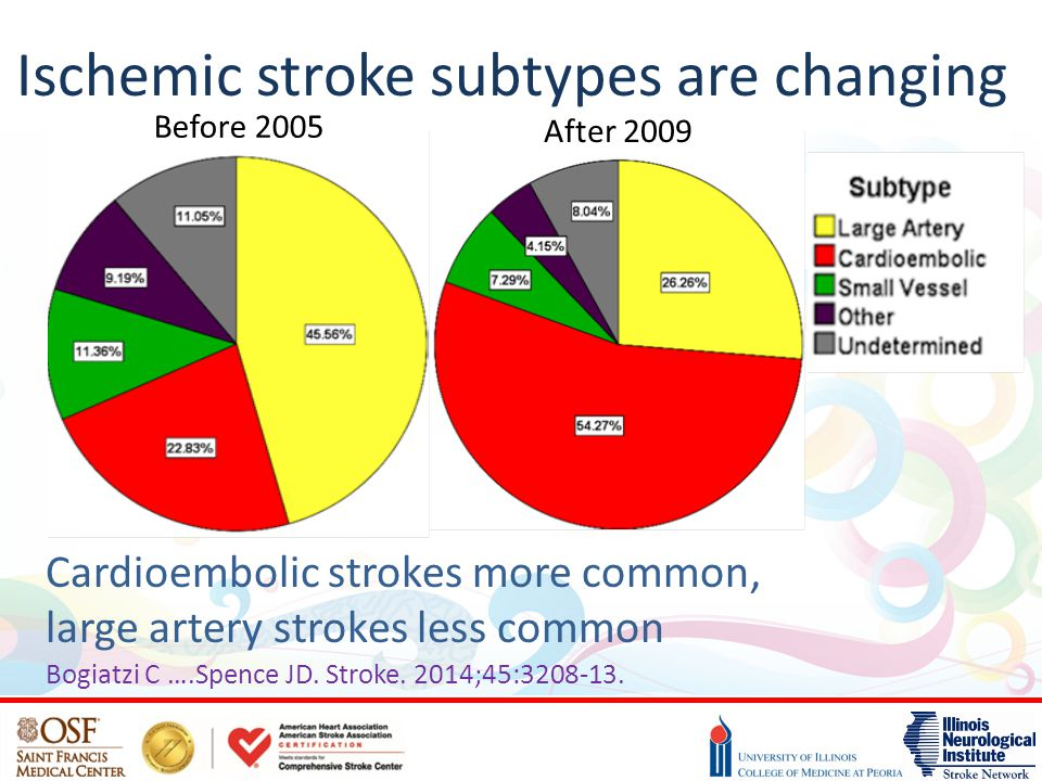 Ischemic stroke subtypes are changing