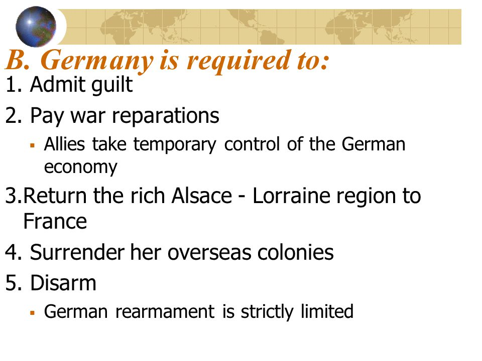 B. Germany is required to: