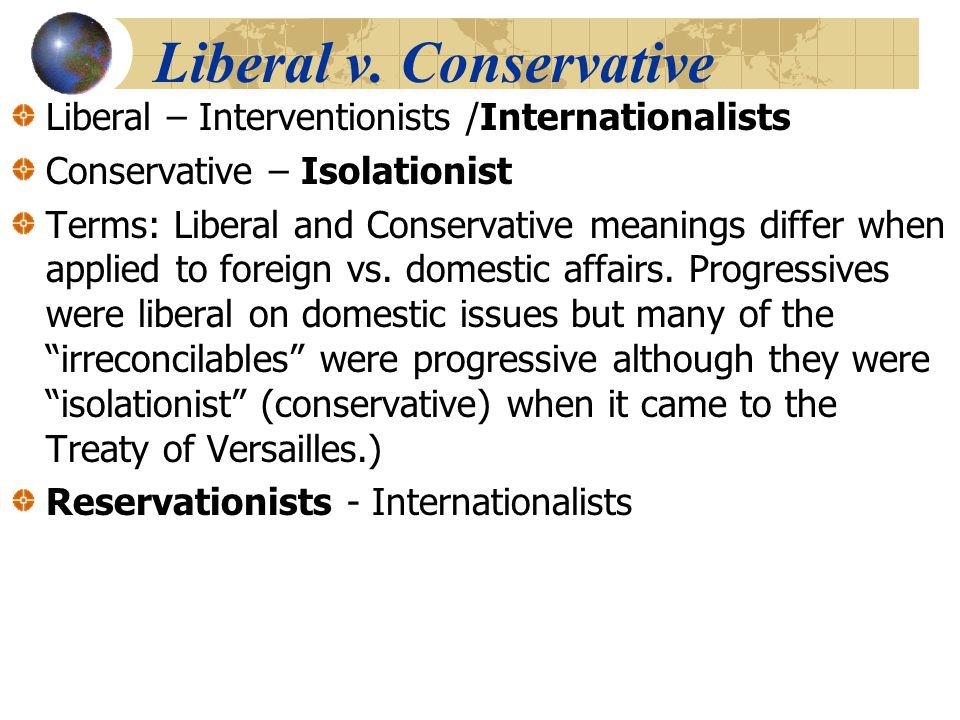 Liberal v. Conservative