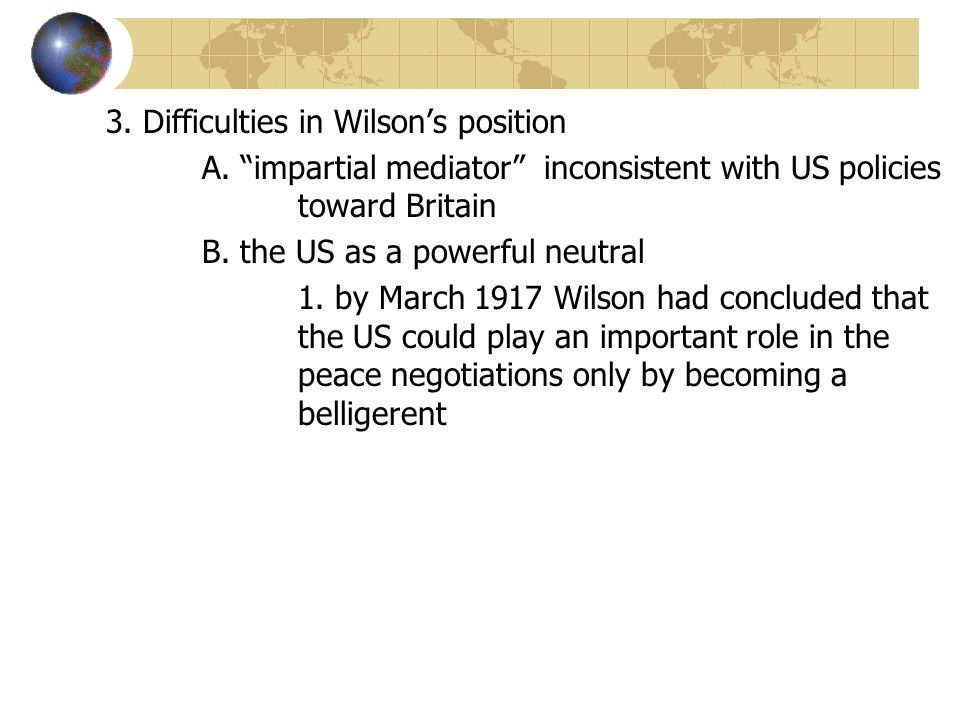 3. Difficulties in Wilson's position