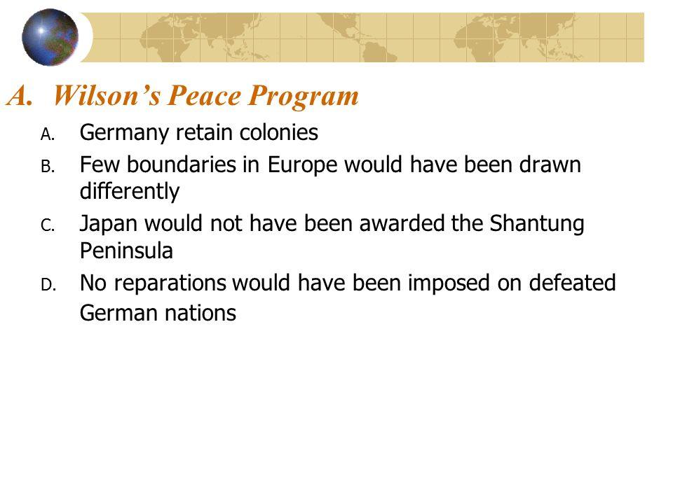 Wilson's Peace Program