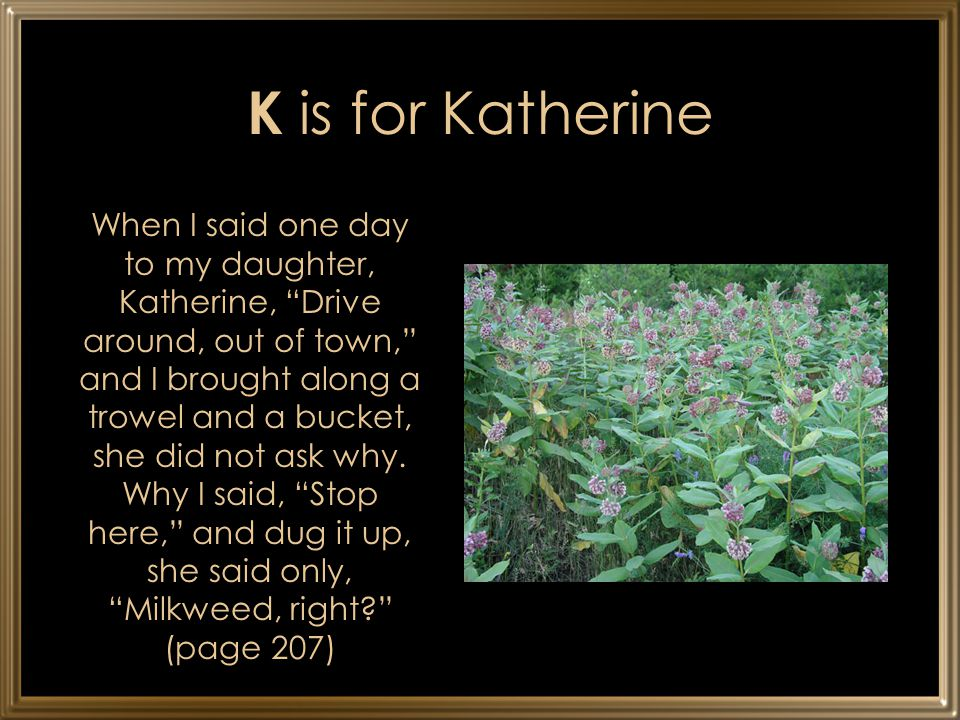 K is for Katherine