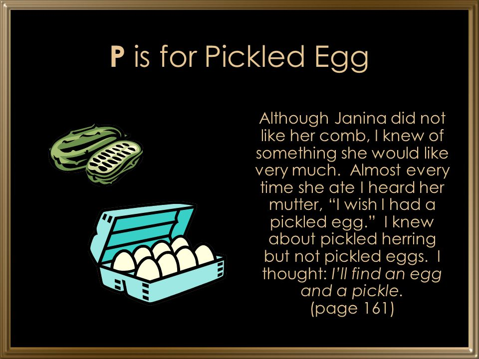 P is for Pickled Egg