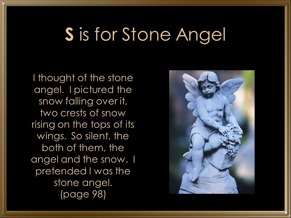 S is for Stone Angel