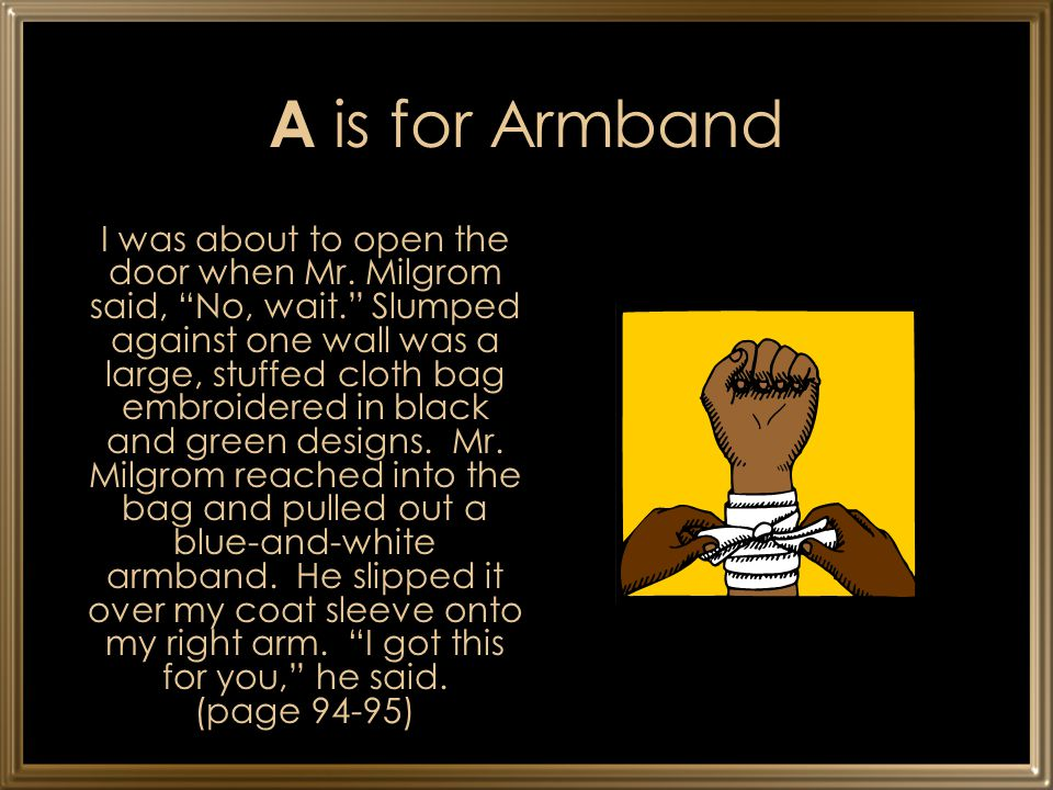 A is for Armband
