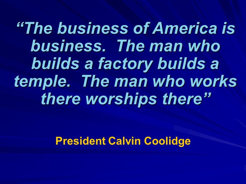 President Calvin Coolidge