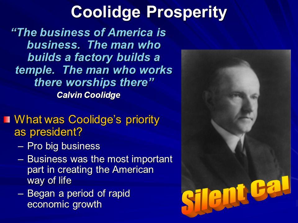 Coolidge Prosperity Silent Cal