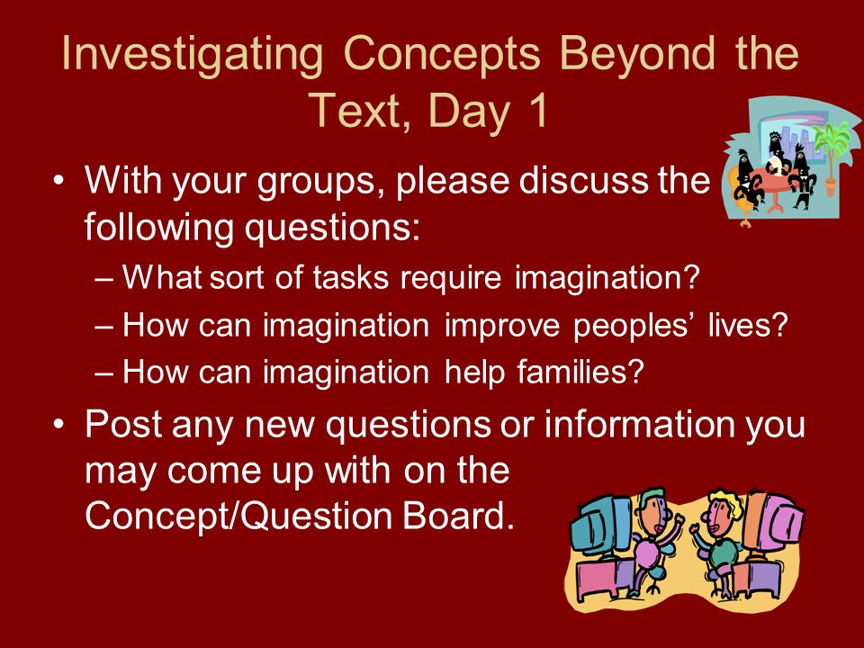Investigating Concepts Beyond the Text, Day 1