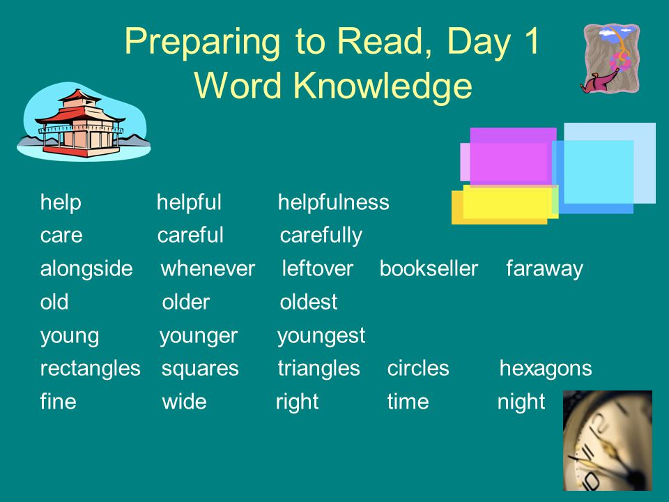 Preparing to Read, Day 1 Word Knowledge