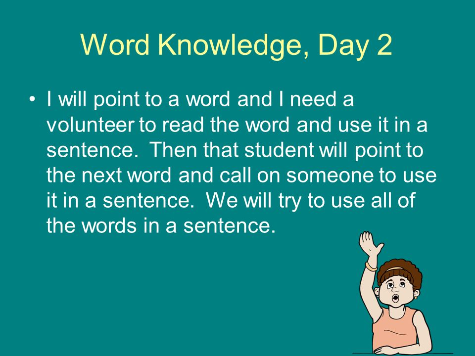 Word Knowledge, Day 2