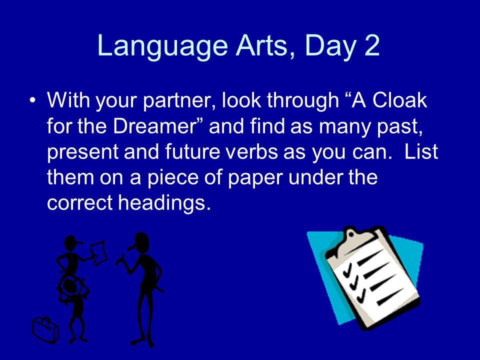 Language Arts, Day 2