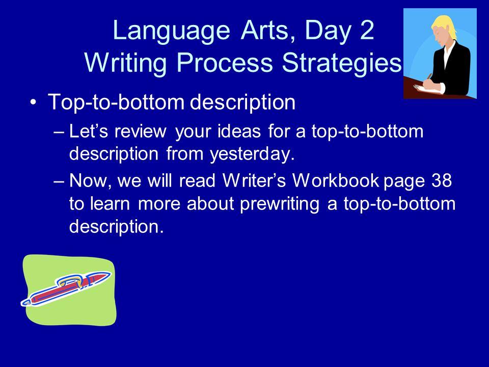 Language Arts, Day 2 Writing Process Strategies