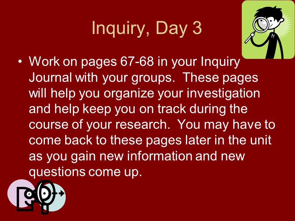 Inquiry, Day 3