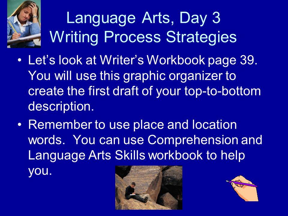 Language Arts, Day 3 Writing Process Strategies