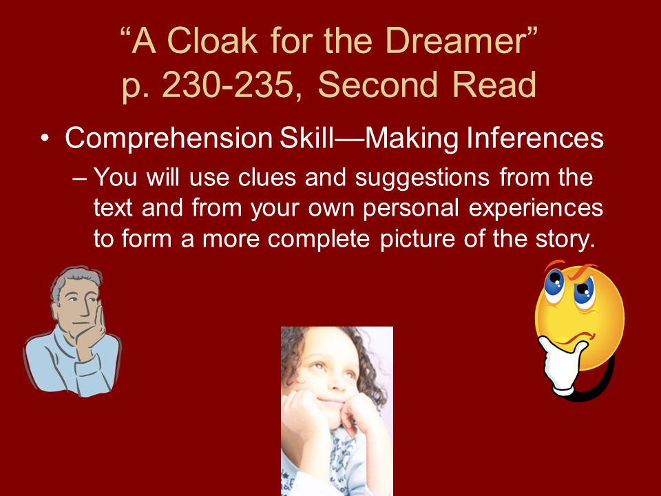 A Cloak for the Dreamer p. 230-235, Second Read
