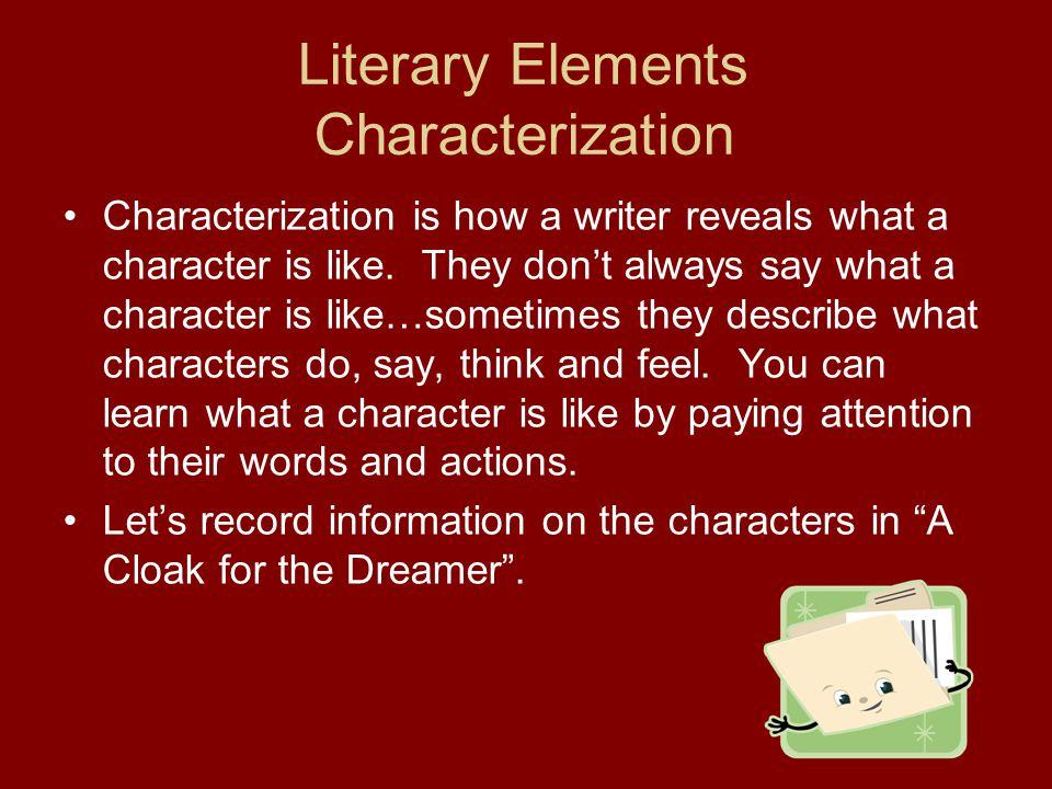 Literary Elements Characterization