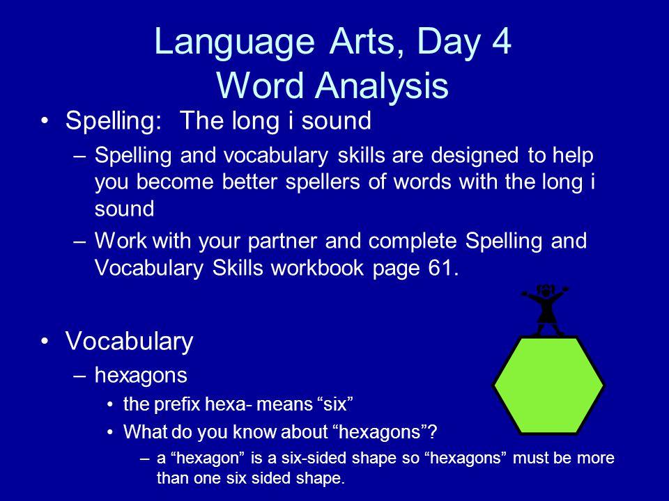 Language Arts, Day 4 Word Analysis