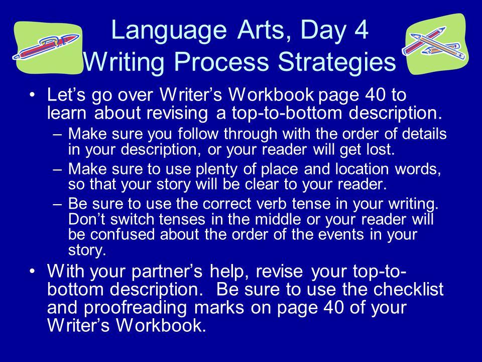 Language Arts, Day 4 Writing Process Strategies