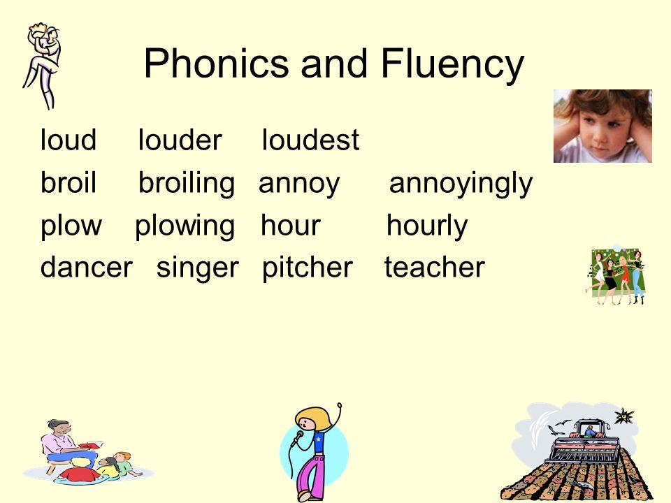 Phonics and Fluency loud louder loudest