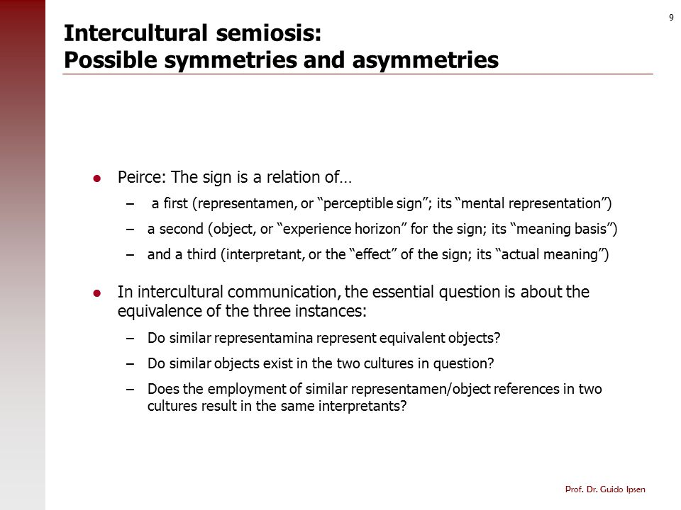 Intercultural semiosis: Possible asymmetries
