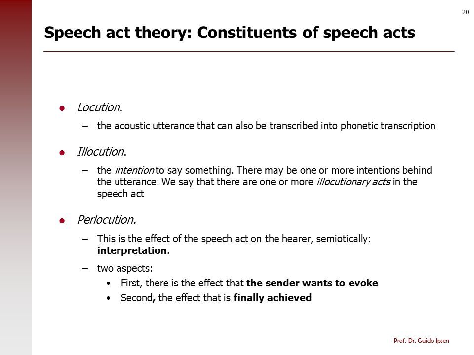 Speech act theory: Indirect speech acts