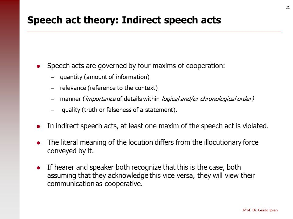 Speech act competence in social environments