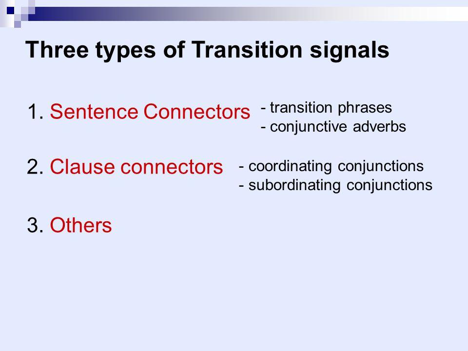Three types of Transition signals
