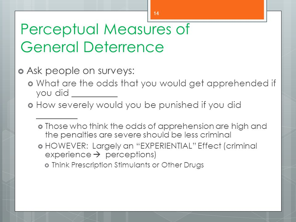 Perceptual Measures of General Deterrence
