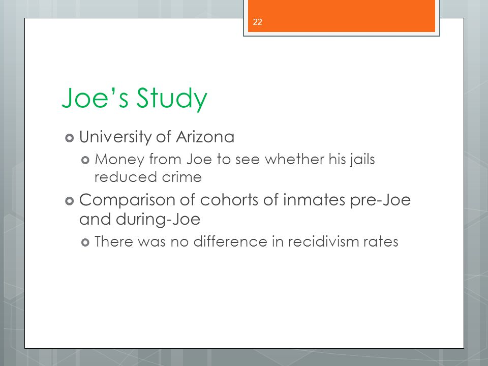 Joe's Study University of Arizona