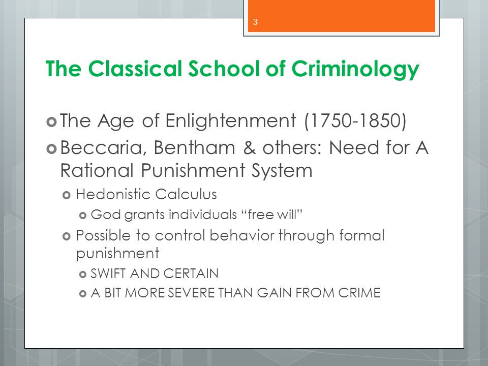 The Classical School of Criminology