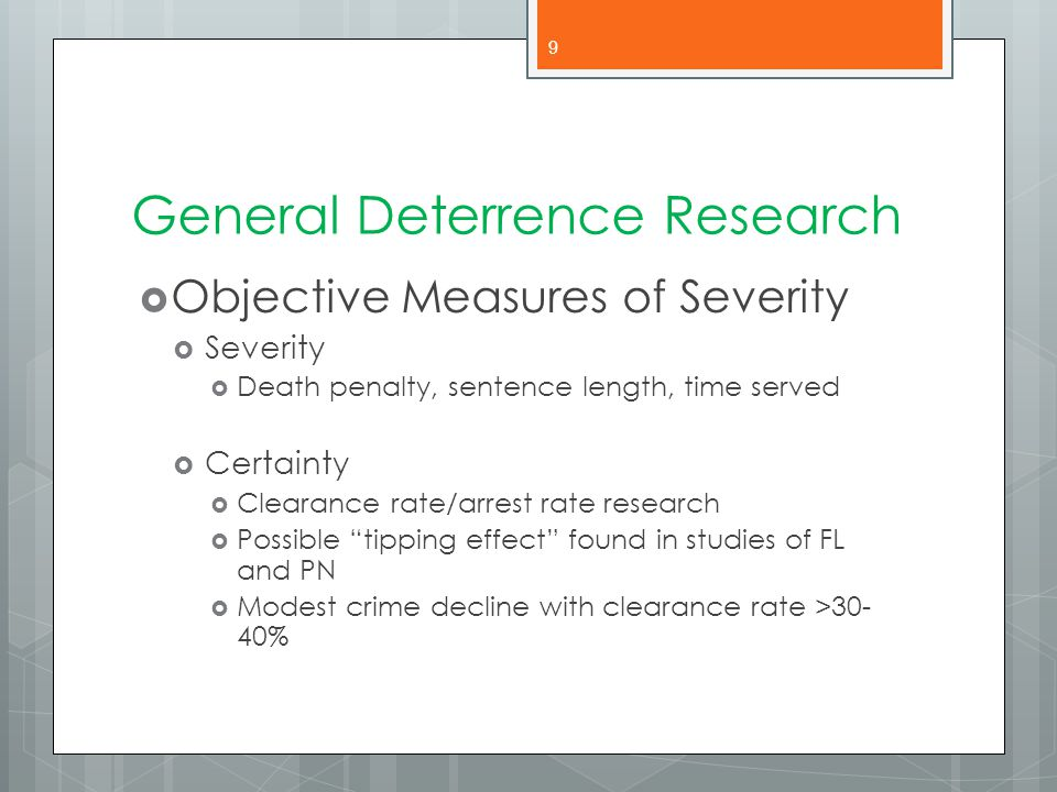 General Deterrence Research