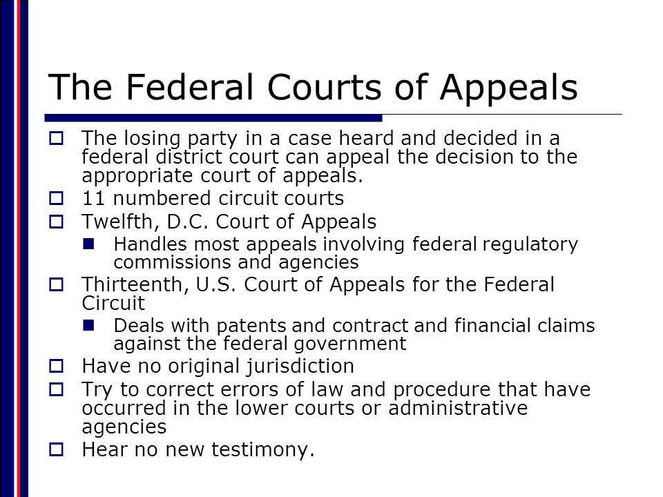The Federal Courts of Appeals