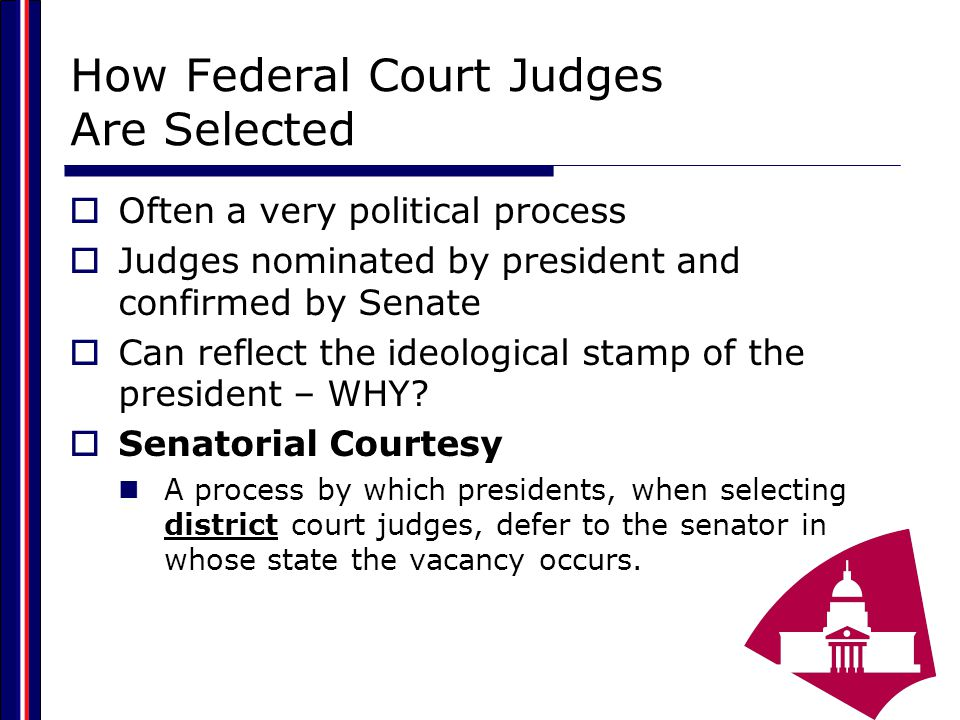 How Federal Court Judges Are Selected