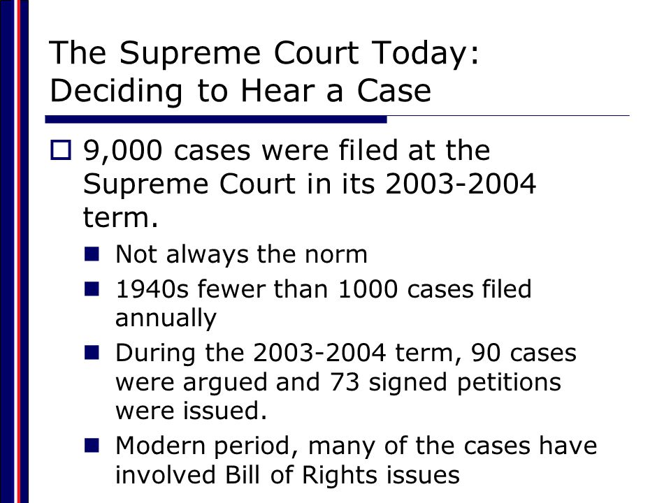 The Supreme Court Today: Deciding to Hear a Case