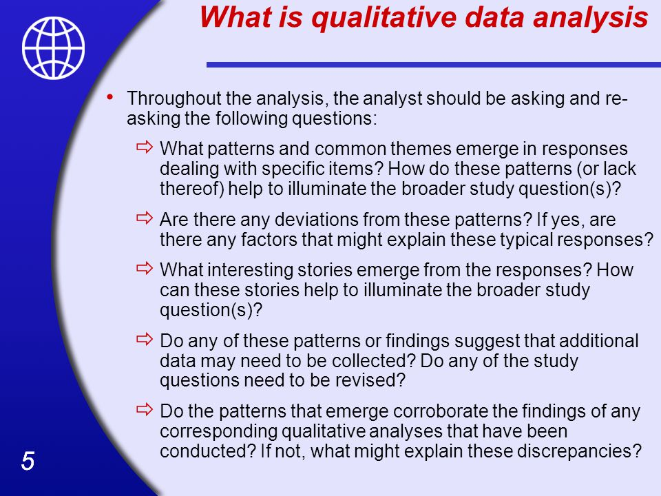 What is qualitative data analysis