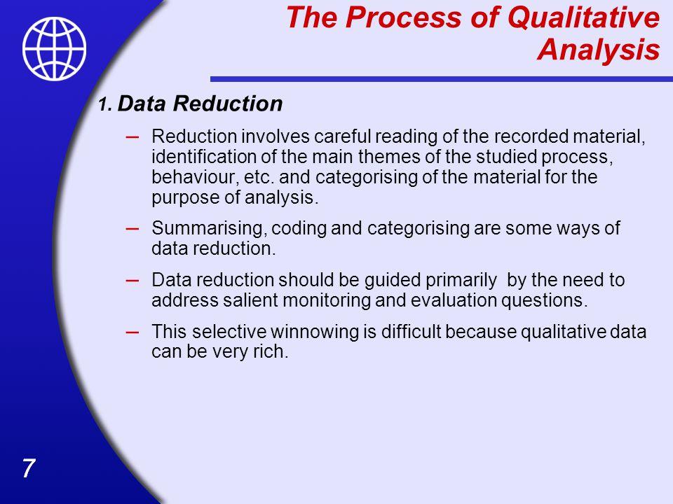 The Process of Qualitative Analysis