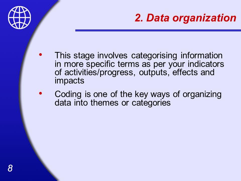 2. Data organization