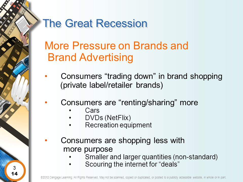 The Great Recession More Pressure on Brands and Brand Advertising