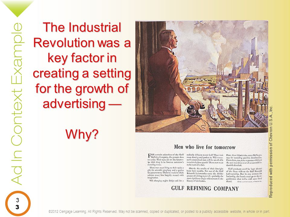 The Industrial Revolution was a key factor in creating a setting for the growth of advertising — Why