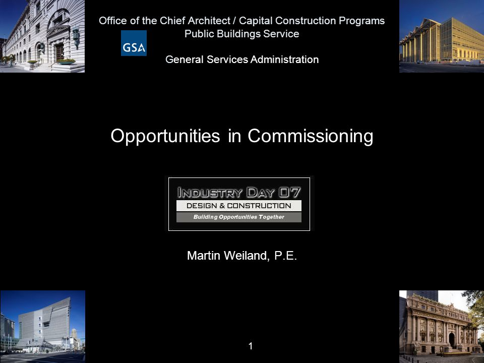 Opportunities in Commissioning