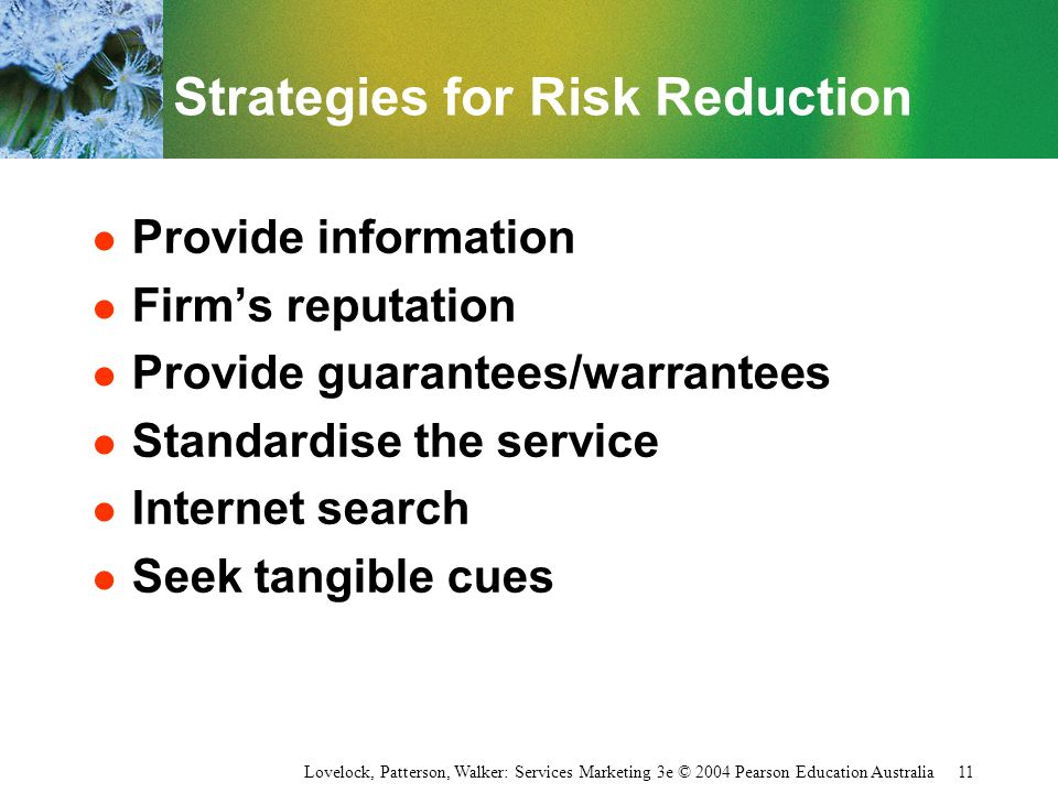 Strategies for Risk Reduction
