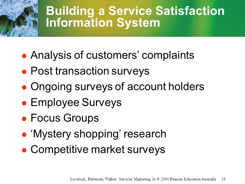 Building a Service Satisfaction Information System
