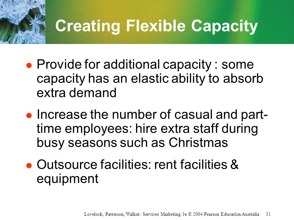 Creating Flexible Capacity