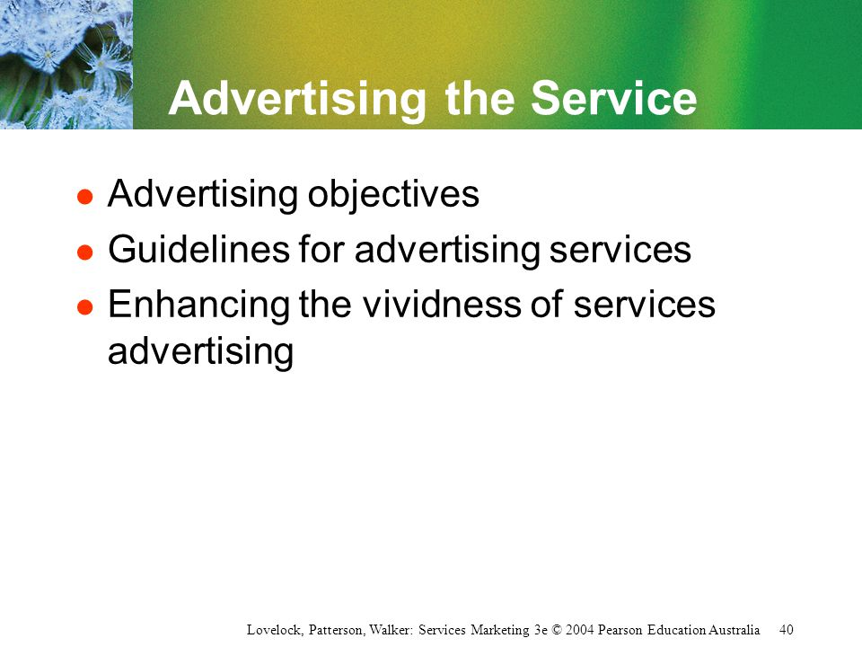 Advertising the Service