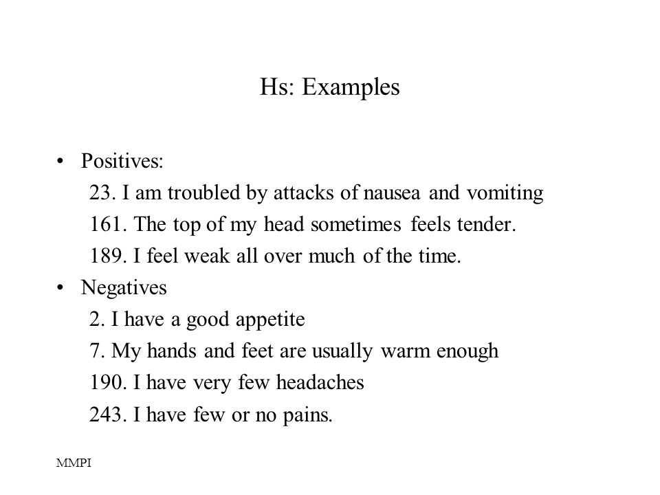Hs: Examples Positives: