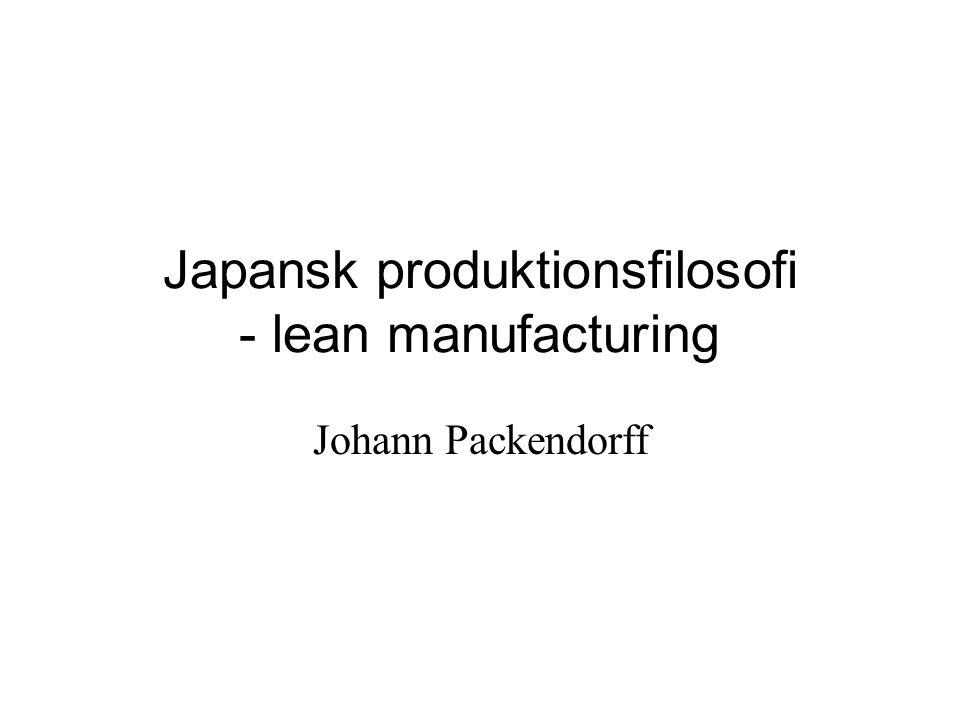 Japansk produktionsfilosofi - lean manufacturing