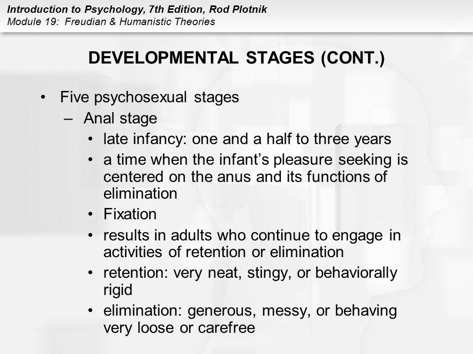 DEVELOPMENTAL STAGES (CONT.)